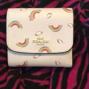 Coach rainbow wallet NWOT